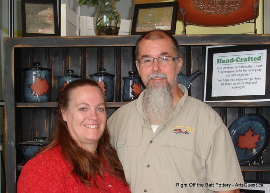Owner Cindy and Darryl Lentz of Island Stoneware