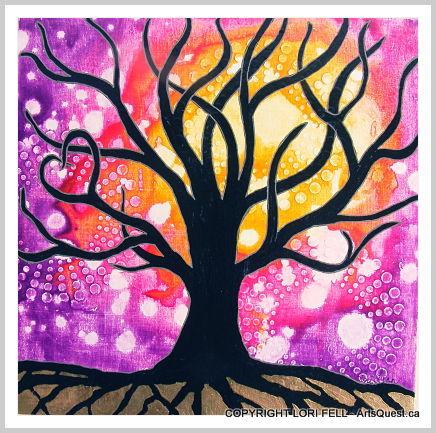 Mixed Media Artist Lori Fell Follows Her Painted Path