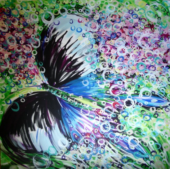 Painter Michelle Pickering's Peacock Panacea