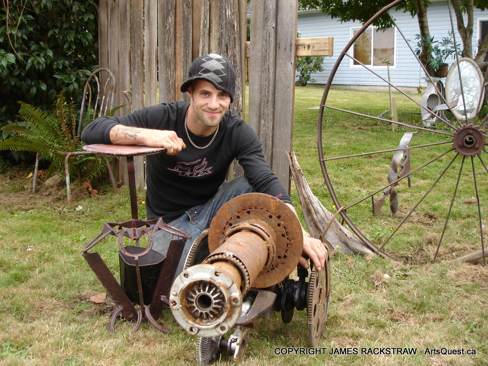 This Guy's Got Mettle! Artistic Metal Fabricator James Rackstraw