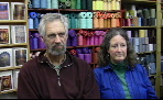 Janet and Ted Wallace in their straw bale shop