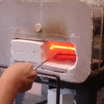 Modified kiln for scrolling