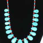 Sleeping Beauty turquoise with coral