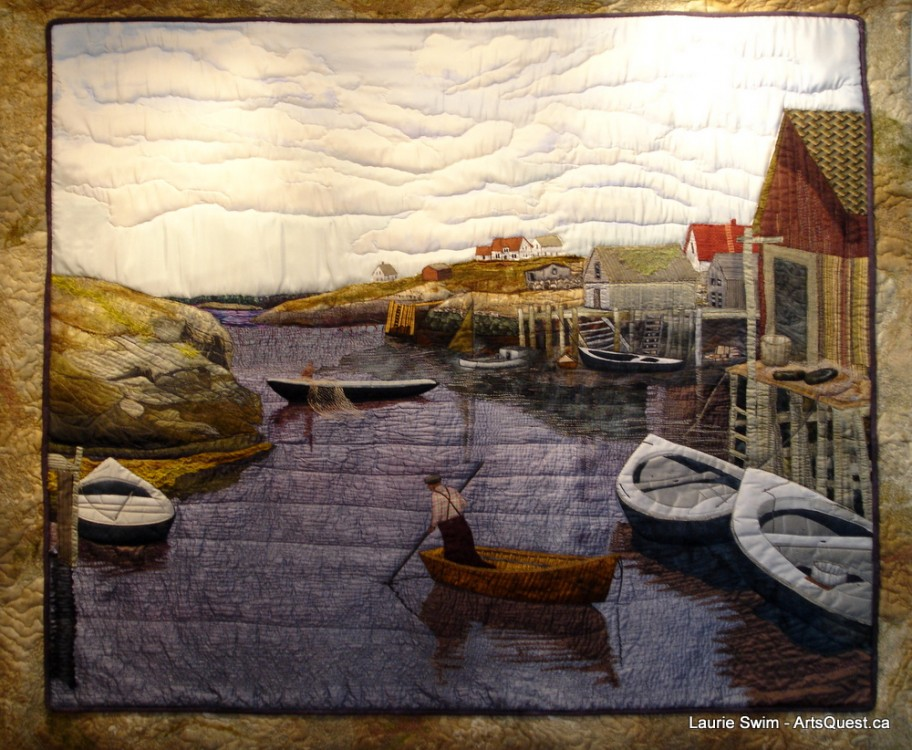 Laurie Swim &#8211; On the Cutting Edge of Quilted Art