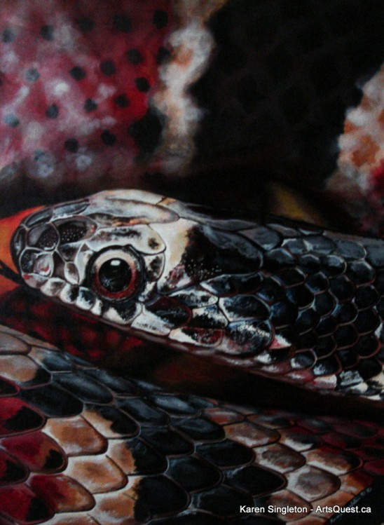 arts-quest-karen-singleton-canvas-painting-snake2