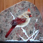 arts-quest-karen-singleton-rock-painting-cardinal2