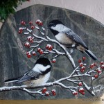 arts-quest-karen-singleton-rock-painting-chickadees