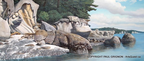 Moon Rock Beach - Painting