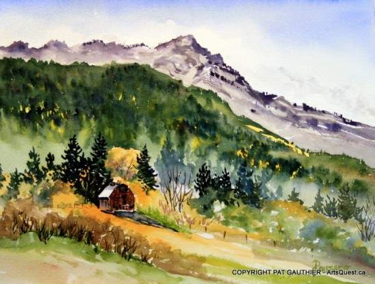 Mount Ida - done in watercolour