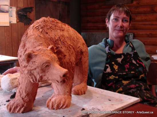 Sculptor Sandra Grace Storey