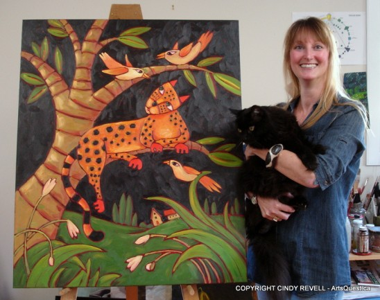 Cindy Revell with Spike