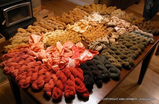 Beautiful Earthy Tones on Handspun Wool Art Yarn