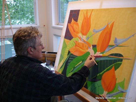 Marlene Wildeman Painting with Panache