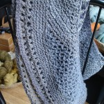 Beautiful Blue Mushroom Dyed Shawl