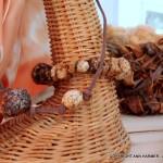 Mushroom paper beads