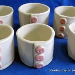 Porcelain Cuff Pots