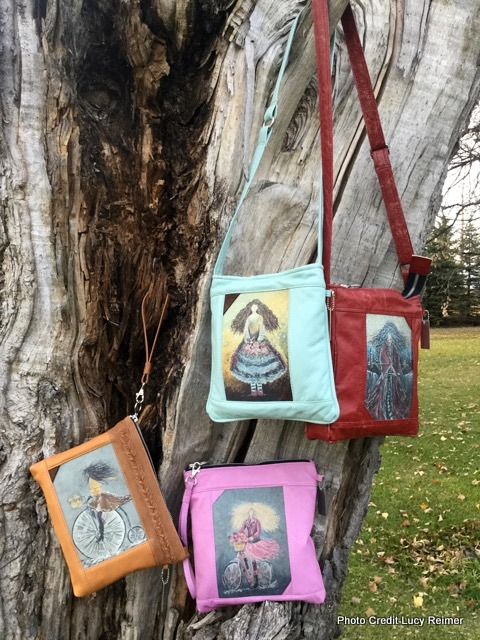 Collaboration purses with Laura Hamilton