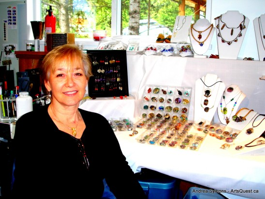 Andrea Symons in her studio in Pemberton, B.C.