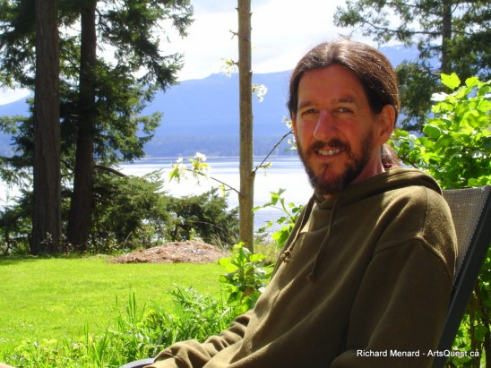 Richard at his home on Denman Island, B.C.