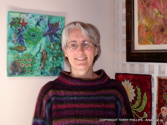 Terry Phillips at Hopespring Studio on Quadra Island, B.C.