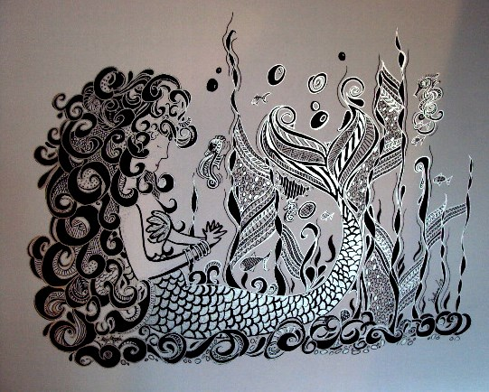 Zentangle art titled A Silent Call