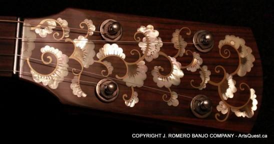 arts-quest-j-romero-banjo-company-12inch-figured-maple-neck-inlay1
