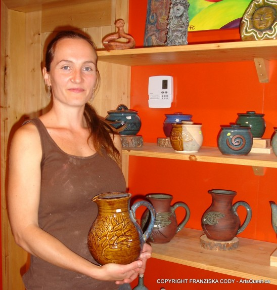 Franziska Cody, potter and owner of Art and Soul Pottery