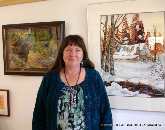 Pat in her studio and gallery