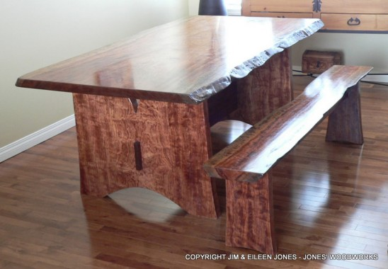 Bubinga Table and Bench