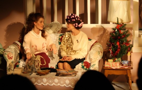 Scene from a theatre production of Steel Magnolias