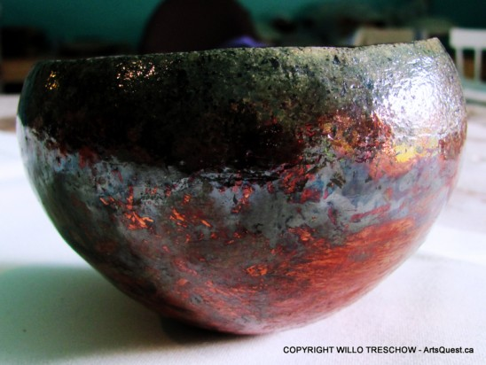 Copper Manganese Raku Bowl