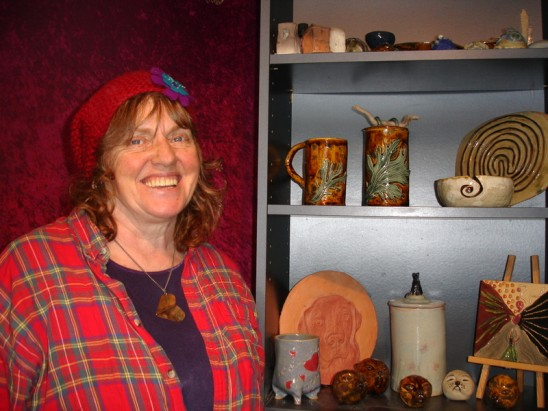 Willo Treschow at Moving Mountains Pottery Studio